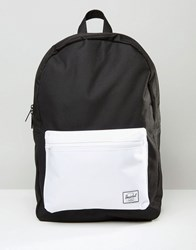 Herschel Settlement Contrast Pocket Backpack Black White Multi