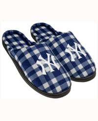 Forever Collectibles New York Yankees Flannel Slide Slippers Navy