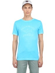 Paul And Shark Garment Dyed Cotton Jersey T Shirt