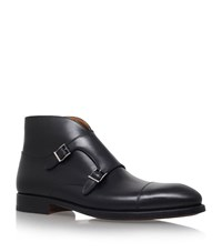 Magnanni Vidal Double Buckle Boot Male Black