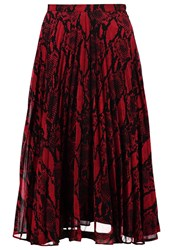 New Look Sammy Pleated Skirt Red