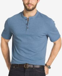 G.H. Bass And Co. Big And Tall Short Sleeve Henley T Shirt Captains Blue