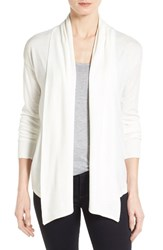Women's Chaus Ribbed Front Jersey Cardigan New Ivory