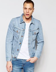 Nudie Jeans Billy Trucker Denim Jacket Strumming Indigo Blue