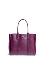 Lanvin 'Shopper' Small Lace Up Tassel Tote Purple