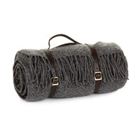 Tweedmill Pure New Wool Picnic Blanket Slate