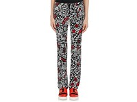 Paco Rabanne Women's Graffiti Print Stretch Cotton Skinny Leg Pants No Color
