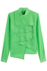 Marco De Vincenzo Silk Blouse Green