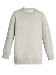 Balenciaga Oversized Crew Neck Sweatshirt Light Grey