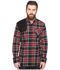 Staple Shooter Flannel Shirt Red Men's Clothing