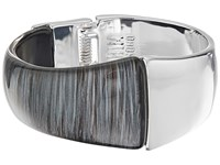 Robert Lee Morris Grey Silver Hinged Bangle Bracelet Grey Bracelet Gray