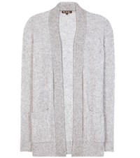 Loro Piana Hungtington Cashmere And Silk Cardigan Grey