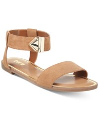 Bar Iii Victor Two Piece Flat Sandals Only At Macy's Women's Shoes Dark Tan