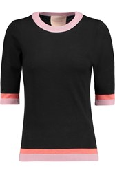 Roksanda Ilincic Almar Wool Silk And Cashmere Blend Sweater Black