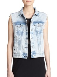 Rag And Bone The Denim Vest Bleach Out