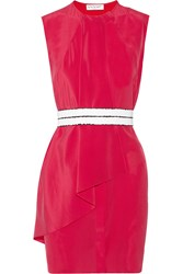 Vionnet Convertible Belted Silk Mini Dress Pink