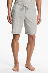 Men's Daniel Buchler Peruvian Pima Cotton Shorts Grey Heather