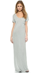 Haute Hippie T Shirt Maxi Dress Light Heather Grey