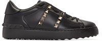 Valentino Black Studded Sneakers