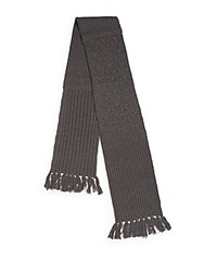 Rogue Tassel Knit Scarf Dark Grey