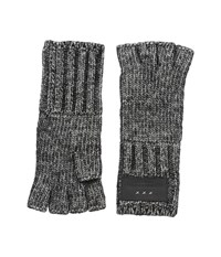 John Varvatos Cappuccino Fingerless Gloves Charcoal Extreme Cold Weather Gloves Gray