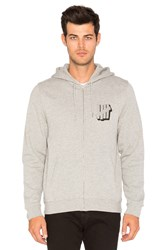 Undefeated Shadowed Strike Zip Hoody Grey