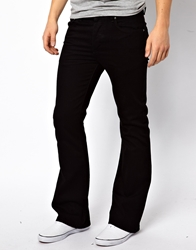 Asos Flare Jeans In Black