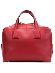Loewe Zip Up Tote Bag Red