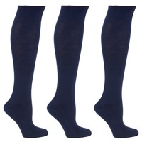 John Lewis Cotton Rich Knee High Socks Pack Of 3 Navy