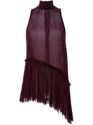 Manning Cartell Asymmetric Pleated Tank Red