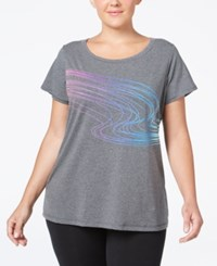 Ideology Plus Size Graphic T Shirt Only At Macy's Charcoal Heather