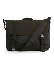 Topman Black Faux Suede Base Side Satchel