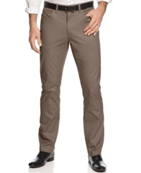 Alfani Big And Tall Cotton Stretch Pants Smokey Taupe
