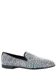 Kardinale Crystal Embellished Suede Loafers