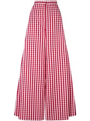 Marques Almeida Marques'almeida Gingham Wide Leg Trousers Red