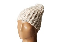 Hat Attack Chevron Knit Skully Ivory Knit Hats White