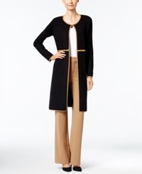 Charter Club Duster Cardigan Only At Macy's Salty Nut Combo