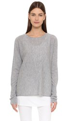 Tess Giberson Cashmere Slouchy Sweater Grey Melange