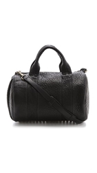 Alexander Wang Rocco Duffel With Gold Tone Hardware Black