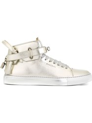 Buscemi Ankle Strap Sneakers Metallic