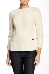 Barbour Dolwen Wool Blend Crew Neck Sweater White