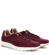 Nike Mayfly Woven Synthetic Suede Sneakers Purple