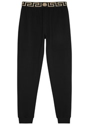 Versace Black Medusa Print Jogging Trousers