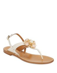 Aerin Vaccaro Jeweled Sandals White
