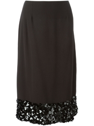 Chanel Vintage Paillette Embellished Hem Skirt