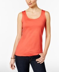 Charter Club Layering Shell Only At Macy's New Coral