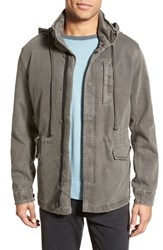 Men's James Perse Utility Jacket With Packable Hood Granite Pigment