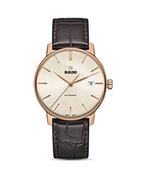 Rado Coupole Classic Automatic Rose Gold Pvd Watch 38Mm Beige Brown