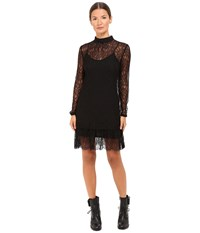 Mcq By Alexander Mcqueen Gather Ruffle Blouse Dress Lace Black