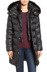 Andrew Marc New York Women's Down Coat With Genuine Fox Fur Black